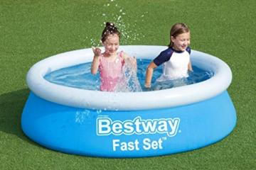 Bestway Fast Set Pool, 183 x 51 cm, ohne Pumpe, rund, blau - 10