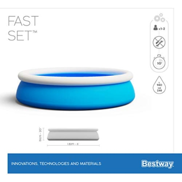 Bestway Fast Set Pool, 183 x 51 cm, ohne Pumpe, rund, blau - 13
