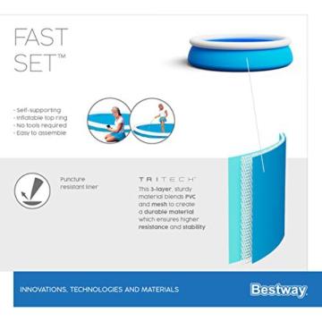 Bestway Fast Set Pool, 183 x 51 cm, ohne Pumpe, rund, blau - 14