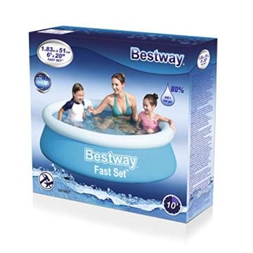 Bestway Fast Set Pool, 183 x 51 cm, ohne Pumpe, rund, blau - 3