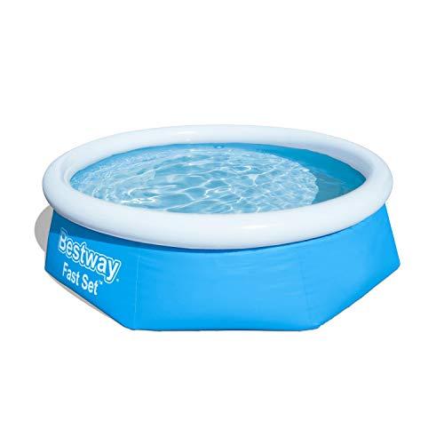 Bestway Fast Set Pool ohne Pumpe, rund 244 x 66 cm, blau, Blau - 1