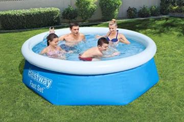 Bestway Fast Set Pool ohne Pumpe, rund 244 x 66 cm, blau, Blau - 2