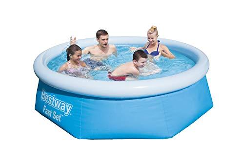 Bestway Fast Set Pool ohne Pumpe, rund 244 x 66 cm, blau, Blau - 5
