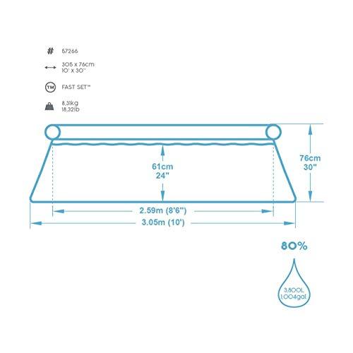 Bestway Fast Set Pool ohne Pumpe, rund, 305 x 76 cm - 2