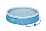 Bestway Fast Set Pool, rund,mit Kartuschenfilterpumpe, blau, 366 x 76 cm - 1