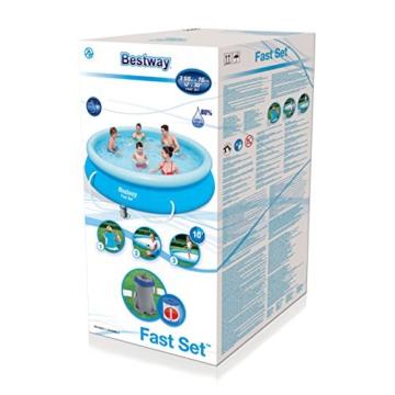 Bestway Fast Set Pool, rund,mit Kartuschenfilterpumpe, blau, 366 x 76 cm - 3