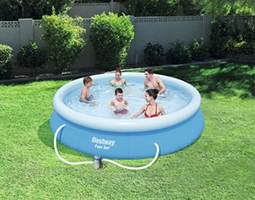 Bestway Fast Set Pool, rund,mit Kartuschenfilterpumpe, blau, 366 x 76 cm - 5