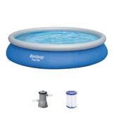 BESTWAY Fast Set Pool Set 457x84 cm, mit Filterpumpe - 1