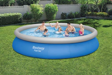 BESTWAY Fast Set Pool Set 457x84 cm, mit Filterpumpe - 2