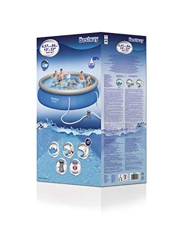 BESTWAY Fast Set Pool Set 457x84 cm, mit Filterpumpe - 3