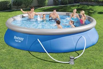 BESTWAY Fast Set Pool Set 457x84 cm, mit Filterpumpe - 8