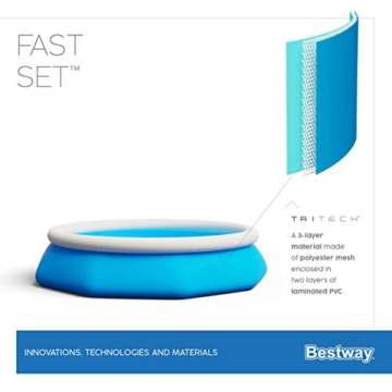 Bestway Fast Set Pool-Set mit Filterpumpe, rund, 244 x 66 cm - 11