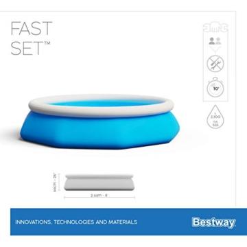 Bestway Fast Set Pool-Set mit Filterpumpe, rund, 244 x 66 cm - 9