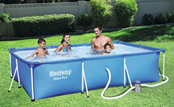 Bestway Frame Pool Deluxe Splash - Steel Pro, Set mit Filterpumpe, 300 x 201 x 66 cm, blau - 2