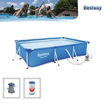 Bestway Frame Pool Deluxe Splash - Steel Pro, Set mit Filterpumpe, 300 x 201 x 66 cm, blau - 4