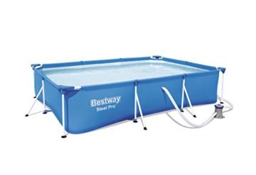Bestway Frame Pool Deluxe Splash - Steel Pro, Set mit Filterpumpe, 300 x 201 x 66 cm, blau - 1