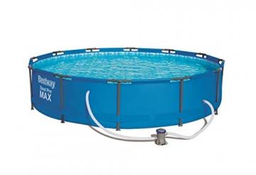 Bestway Frame Pool Steel Pro, Set mit Filterpumpe, 366 x 76 cm, blau - 1
