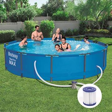Bestway Frame Pool Steel Pro, Set mit Filterpumpe, 366 x 76 cm, blau - 5