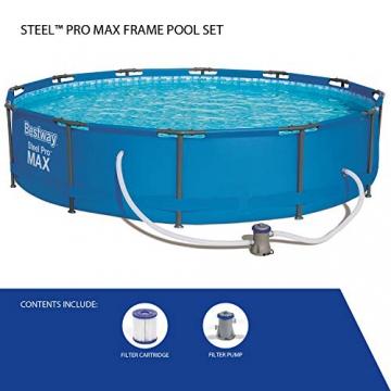 Bestway Frame Pool Steel Pro, Set mit Filterpumpe, 366 x 76 cm, blau - 6