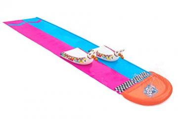 Bestway H2OGO! 2er-Wasserrutsche mit aufblasbaren Lama-Schwimmtieren, 488 cm - 1