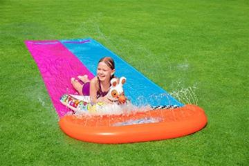 Bestway H2OGO! 2er-Wasserrutsche mit aufblasbaren Lama-Schwimmtieren, 488 cm - 3
