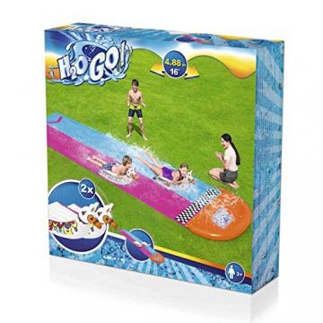 Bestway H2OGO! 2er-Wasserrutsche mit aufblasbaren Lama-Schwimmtieren, 488 cm - 5