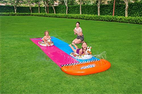 Bestway H2OGO! 2er-Wasserrutsche mit aufblasbaren Lama-Schwimmtieren, 488 cm - 7