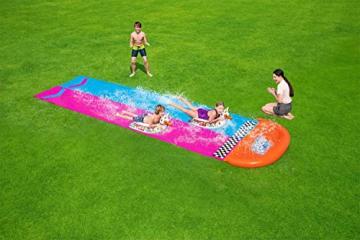 Bestway H2OGO! 2er-Wasserrutsche mit aufblasbaren Lama-Schwimmtieren, 488 cm - 8