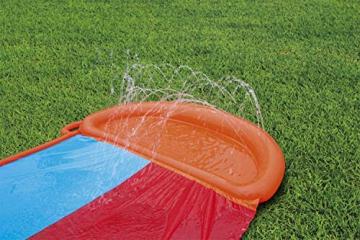 Bestway H2oGo Doppel-Wasserrutsche, mit aufblasbarer Startrampe, Double Ramp, 549 cm - 2