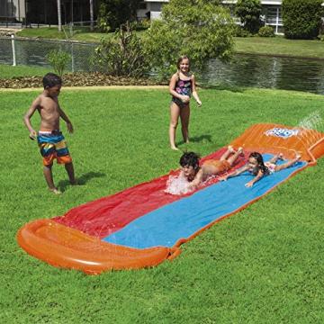 Bestway H2oGo Doppel-Wasserrutsche, mit aufblasbarer Startrampe, Double Ramp, 549 cm - 3