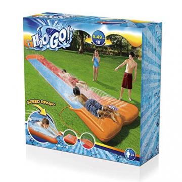 Bestway H2oGo Doppel-Wasserrutsche, mit aufblasbarer Startrampe, Double Ramp, 549 cm - 4