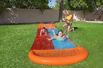 Bestway H2oGo Doppel-Wasserrutsche, mit aufblasbarer Startrampe, Double Ramp, 549 cm - 7