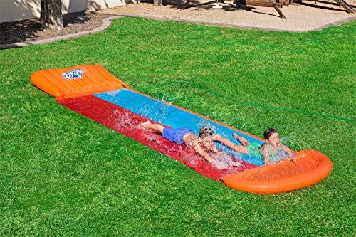 Bestway H2oGo Doppel-Wasserrutsche, mit aufblasbarer Startrampe, Double Ramp, 549 cm - 8
