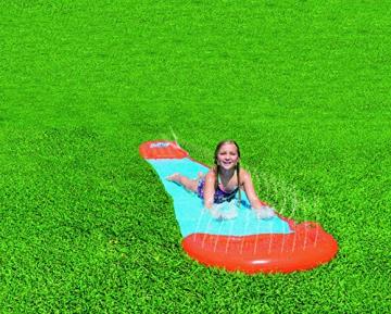 Bestway H2oGo Doppel-Wasserrutsche, mit aufblasbarer Startrampe, Single Ramp 549 cm - 2
