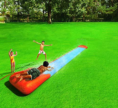 Bestway H2oGo Doppel-Wasserrutsche, mit aufblasbarer Startrampe, Single Ramp 549 cm - 6