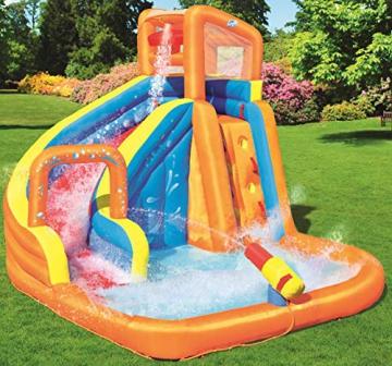 Bestway H2OGO! Wasseroark Turbo Splash, Planschbecken mit Wasserrutsche und Kletterwand, 365x320x275 cm - 2