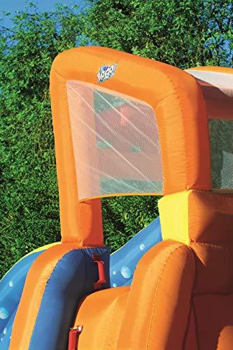 Bestway H2OGO! Wasseroark Turbo Splash, Planschbecken mit Wasserrutsche und Kletterwand, 365x320x275 cm - 12