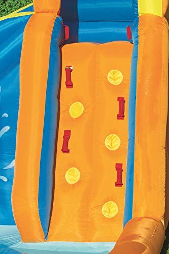 Bestway H2OGO! Wasseroark Turbo Splash, Planschbecken mit Wasserrutsche und Kletterwand, 365x320x275 cm - 16