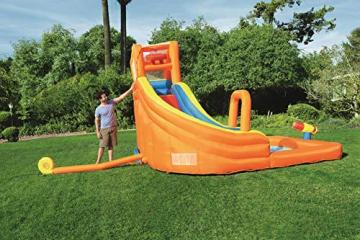 Bestway H2OGO! Wasseroark Turbo Splash, Planschbecken mit Wasserrutsche und Kletterwand, 365x320x275 cm - 26