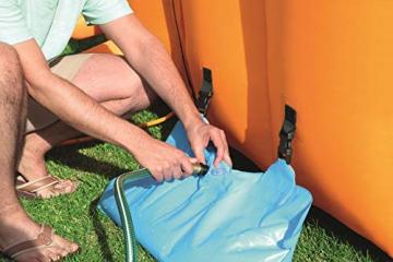 Bestway H2OGO! Wasseroark Turbo Splash, Planschbecken mit Wasserrutsche und Kletterwand, 365x320x275 cm - 33