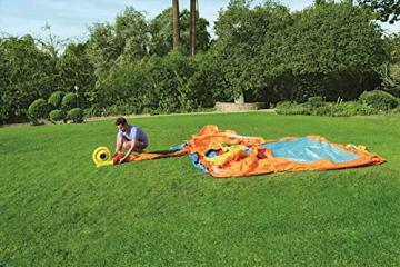 Bestway H2OGO! Wasseroark Turbo Splash, Planschbecken mit Wasserrutsche und Kletterwand, 365x320x275 cm - 36