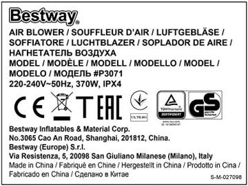 Bestway H2OGO! Wasseroark Turbo Splash, Planschbecken mit Wasserrutsche und Kletterwand, 365x320x275 cm - 53