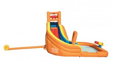 Bestway H2OGO! Wasseroark Turbo Splash, Planschbecken mit Wasserrutsche und Kletterwand, 365x320x275 cm - 56