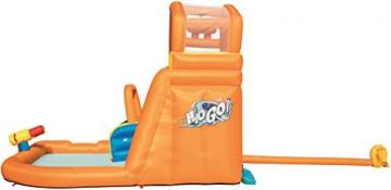 Bestway H2OGO! Wasseroark Turbo Splash, Planschbecken mit Wasserrutsche und Kletterwand, 365x320x275 cm - 58