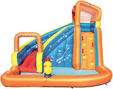Bestway H2OGO! Wasseroark Turbo Splash, Planschbecken mit Wasserrutsche und Kletterwand, 365x320x275 cm - 61