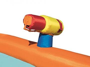 Bestway H2OGO! Wasseroark Turbo Splash, Planschbecken mit Wasserrutsche und Kletterwand, 365x320x275 cm - 63