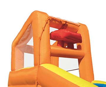 Bestway H2OGO! Wasseroark Turbo Splash, Planschbecken mit Wasserrutsche und Kletterwand, 365x320x275 cm - 64