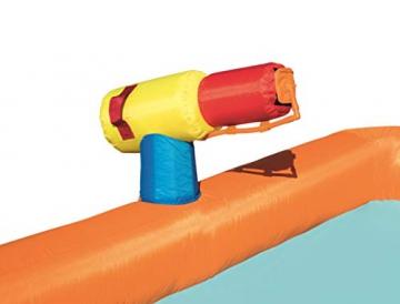 Bestway H2OGO! Wasseroark Turbo Splash, Planschbecken mit Wasserrutsche und Kletterwand, 365x320x275 cm - 72