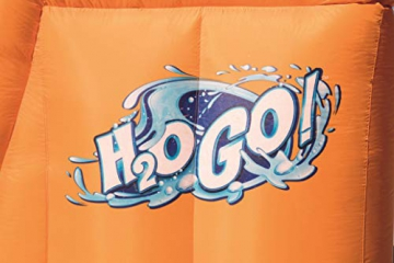 Bestway H2OGO! Wasseroark Turbo Splash, Planschbecken mit Wasserrutsche und Kletterwand, 365x320x275 cm - 73