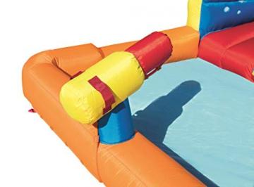 Bestway H2OGO! Wasseroark Turbo Splash, Planschbecken mit Wasserrutsche und Kletterwand, 365x320x275 cm - 77